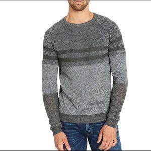 Buffalo men's gray stripped sweater